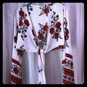 LF front tie blouse